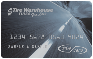 Tire Warehouse Drive Card